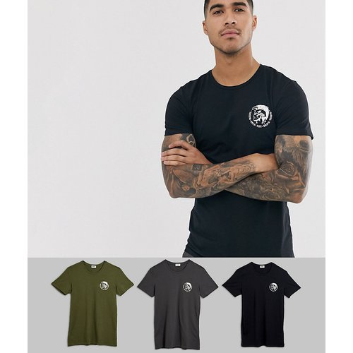 UMTEE-Randal - Lot de 3 t-shirts confort avec logo Mohawk - Multicolore - Diesel - Modalova