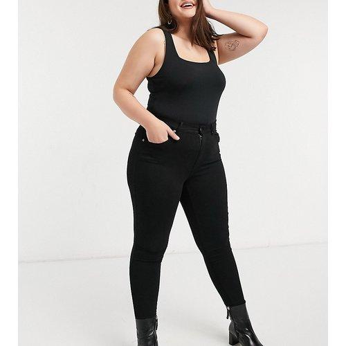 Lexy - Jean seconde peau super skinny taille mi-haute - délavé - Dr Denim Plus - Modalova