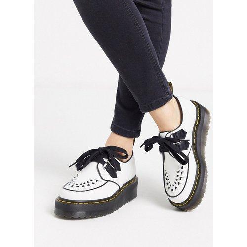 Sidney - Chaussures plates à grosse semelle creeper - Blanc - Dr Martens - Modalova