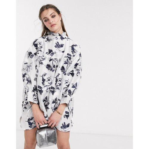 DREAM - - Robe babydoll courte avec bords de manches noués et motif fleuri vintage - sister jane - Modalova
