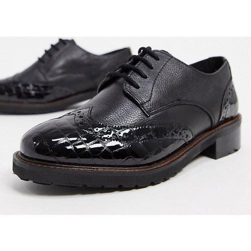 Dune - Fion - Chaussures richelieu pointure large en cuir - Dune Wide Fit - Modalova