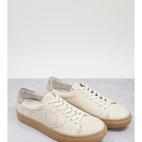 Pointure large - Eco - Baskets à lacets minimalistes en cuir - Dune - Modalova