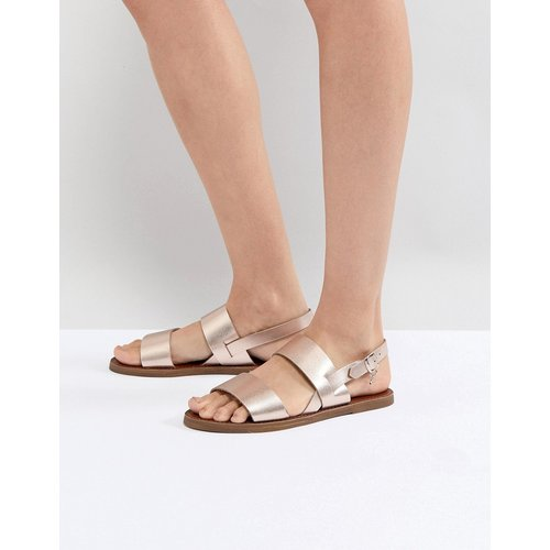 Sandales en deux parties en cuir - Or rose - Dune - Modalova