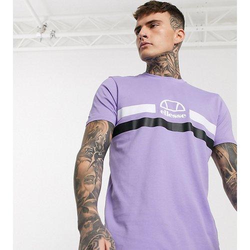 Loreno - T-shirt à rayures avec logo - Lilas - Exclusivité ASOS - Ellesse - Modalova