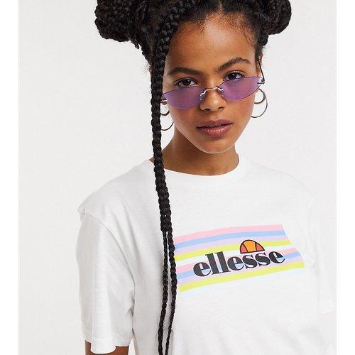 T-shirt avec logo encadré arc-en-ciel pastel - Ellesse - Modalova