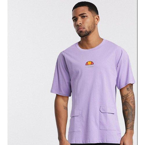 - Veris- T-shirt oversizeà poches fonctionnelles, exclusivité ASOS - Lilas - Ellesse - Modalova