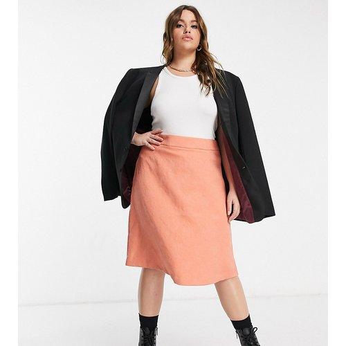 Plus - Mini-jupe en jacquard - Pêche - Elvi - Modalova