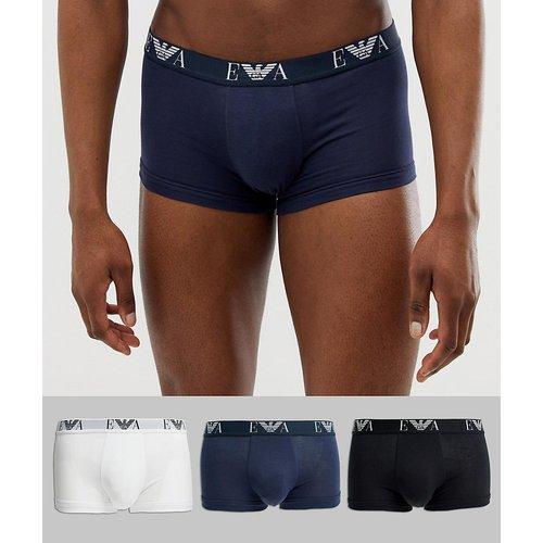 Lot de 3 boxers à logo EVA - Blanc/noir/bleu marine - Emporio Armani - Modalova