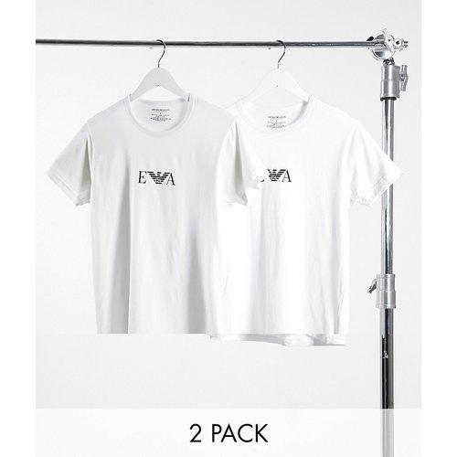Loungewear - Lot de 2 t-shirts confort avec logo - Emporio Armani - Modalova