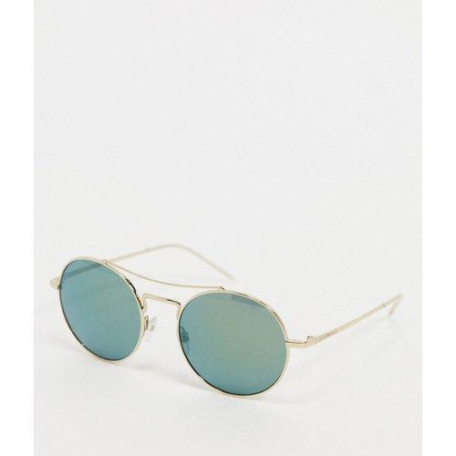Lunettes de soleil aviateur à verres miroir - Emporio Armani - Modalova