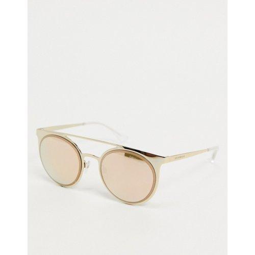 Lunettes de soleil style aviateur à verres effet miroir - Emporio Armani - Modalova