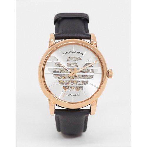 Montre unisexe avec bracelet en cuir - AR60031 - Emporio Armani - Modalova