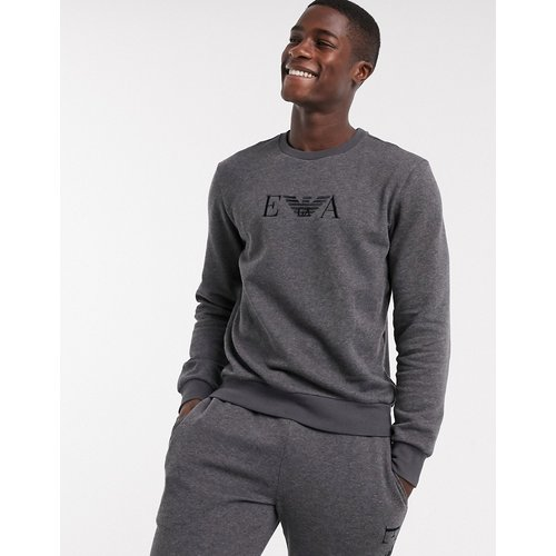 Sweat-shirt loungewear avec logo EVA brodé - Emporio Armani - Modalova