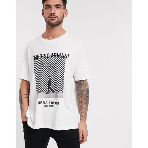 T-shirt à grand logo aigle sur le devant - Emporio Armani - Modalova