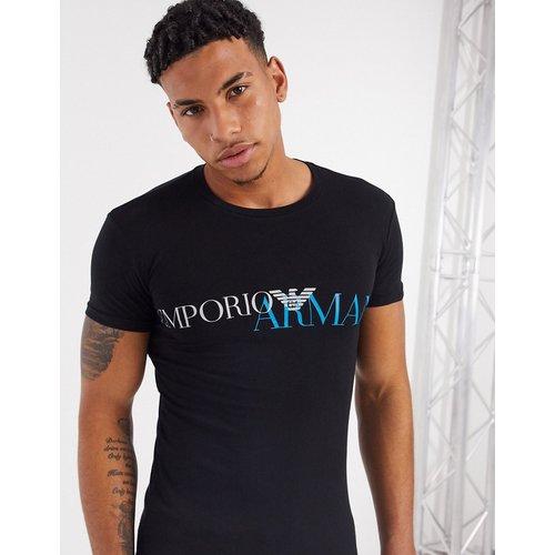 T-shirt loungewear coupe slim à grand logo - et bleu - Emporio Armani - Modalova