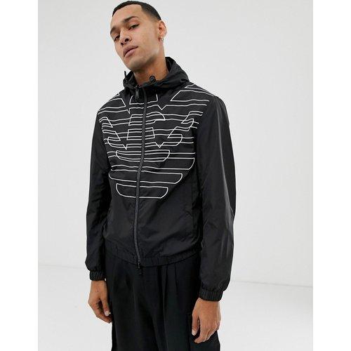 Veste à capuche en nylon réversible avec logo - Emporio Armani - Modalova