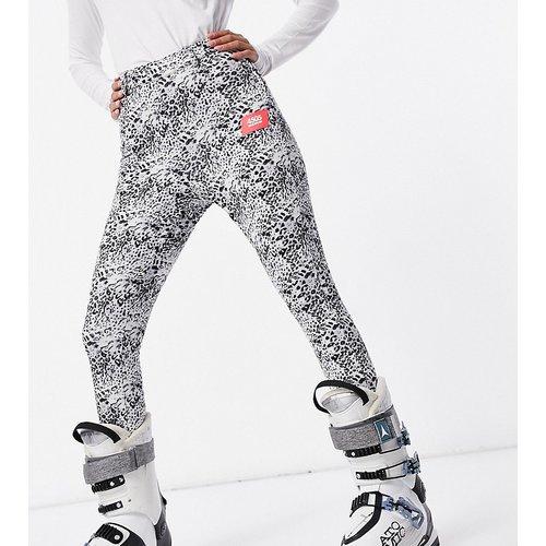 Exclusivité Petite - Pantalon de ski ajusté avec sous-pieds à imprimé animal - Monochrome - ASOS 4505 - Modalova