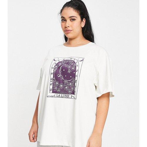 Exclusivité - ASOS DESIGN Curve - Mix & Match - T-shirt de pyjama oversize à imprimé tarot - Écru - ASOS Curve - Modalova