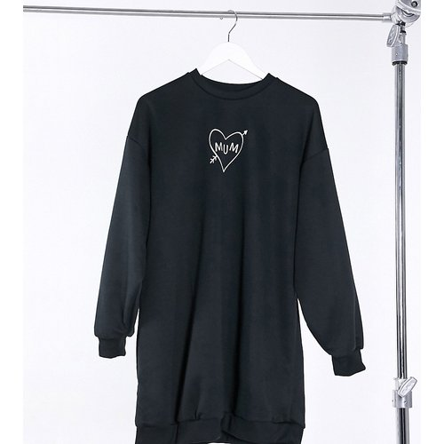 Exclusivité ASOS DESIGN Maternity - Robe sweat-shirt oversize avec inscription Mum - ASOS Maternity - Modalova