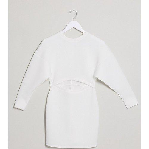 Exclusivité ASOS DESIGN Petite - Robe sweat-shirt courte effet néoprène - Ivoire - ASOS Petite - Modalova