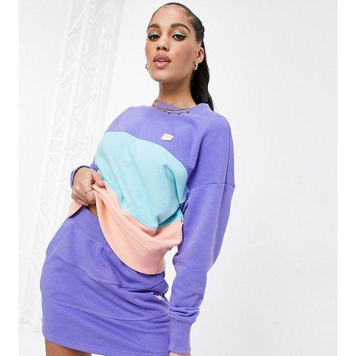 Exclusivité ASOS - - Downtown - Sweat-shirt color block - Violet et orange - Puma - Modalova