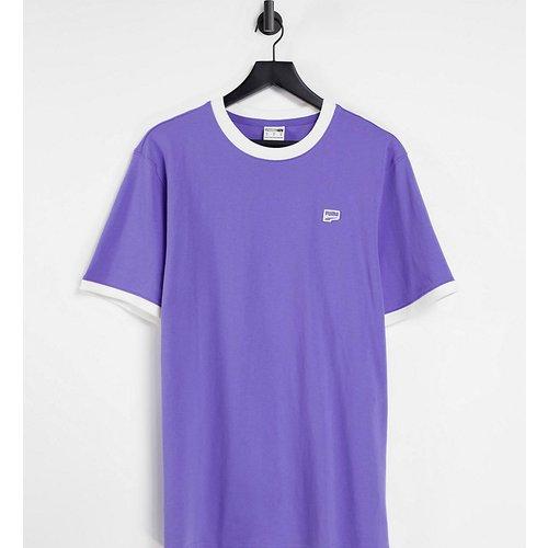 Exclusivité ASOS - - Downtown - T-shirt à liserés contrastants - Violet - Puma - Modalova