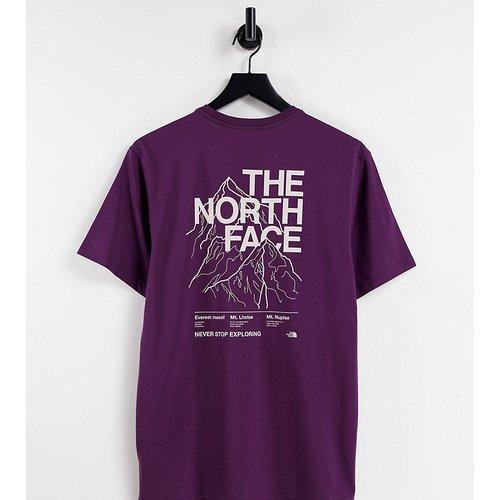 Exclusivité ASOS - - T-shirt à imprimé montagne - Bordeaux - The North Face - Modalova