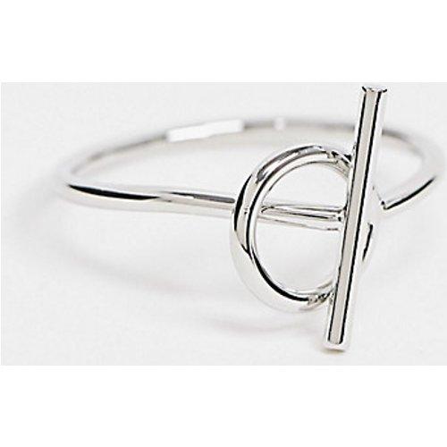 Exclusivité - Bague à barre en T - DesignB London Curve - Modalova