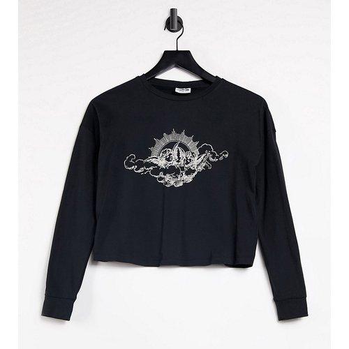 Exclusivité - - T-shirt crop top à motif chérubin - Noisy May Petite - Modalova