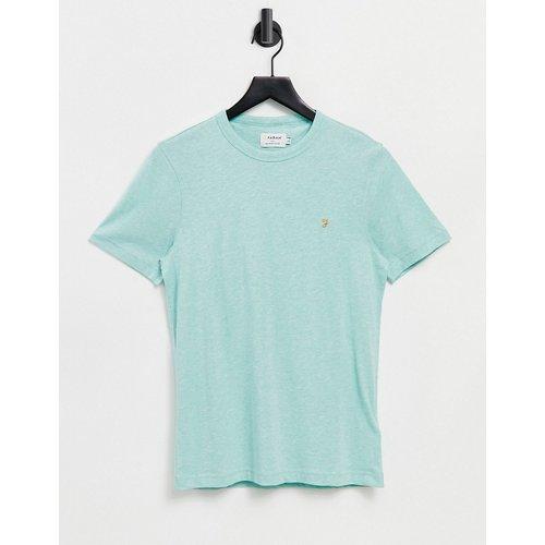 Danny - T-shirt en coton biologique - Turquoise - Farah - Modalova