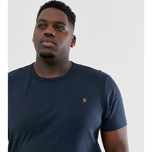 Dennis - T-shirt slim à logo - Bleu marine - Farah - Modalova