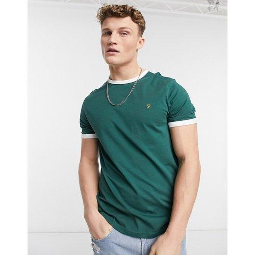 Groves - T-shirt à bordures contrastantes en coton biologique - Farah - Modalova