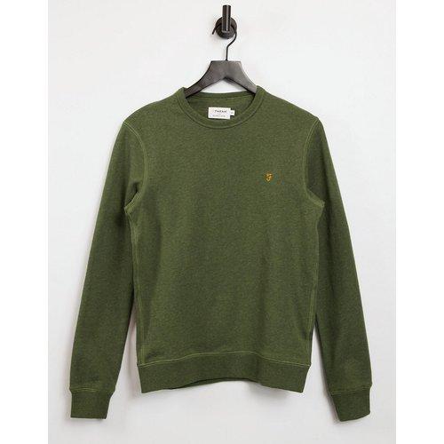 Tim - Sweat-shirt ras de cou en coton biologique - chiné - Farah - Modalova