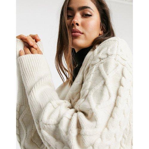 Gilet ajusté avec taille nouée en maille texturée - Fashion Union - Modalova