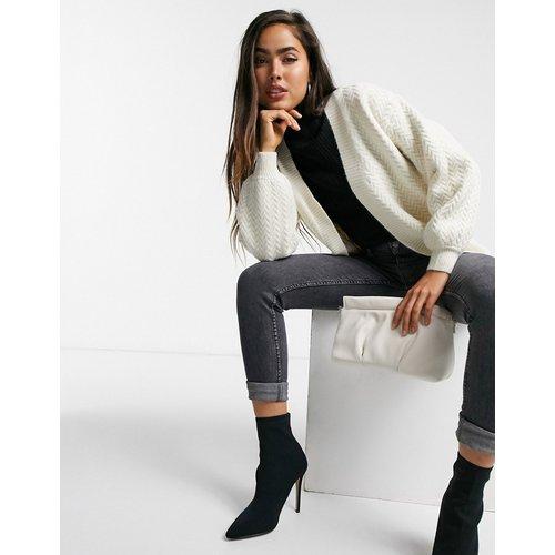 Gilet décontracté en maille torsadée - Fashion Union - Modalova