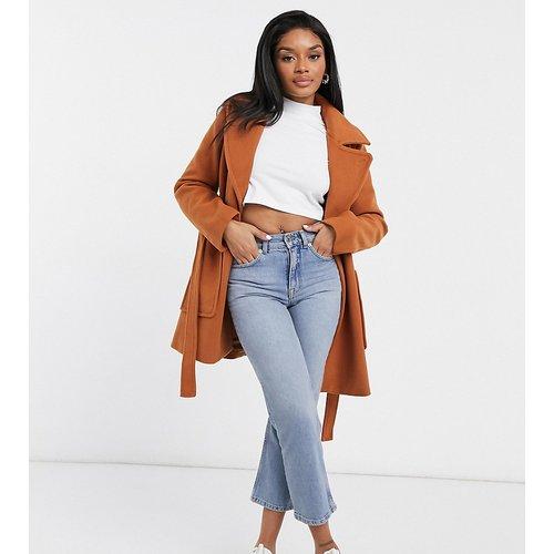 Manteau croisé à ceinture - Fashion Union Petite - Modalova