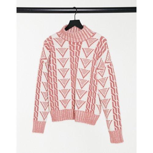 Pull décontracté en maille à motifs triangulaires - Fashion Union - Modalova