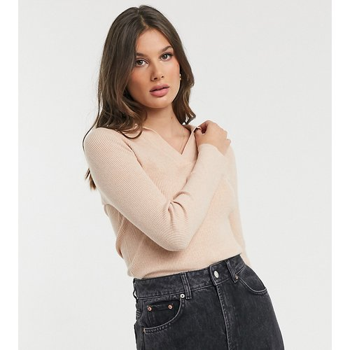 Pull avec col en maille légère - Fashion Union Tall - Modalova
