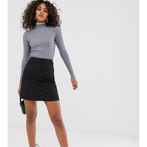 Pull côtelé slim avec col en dentelle - Fashion Union Tall - Modalova