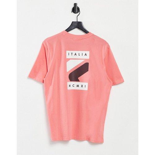 Quartz - T-shirt avec imprimé logo encadré au dos - Rose - Fila - Modalova