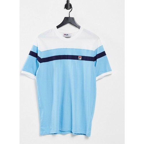 Sten - T-shirt à logo encadré et rayures - clair - Fila - Modalova