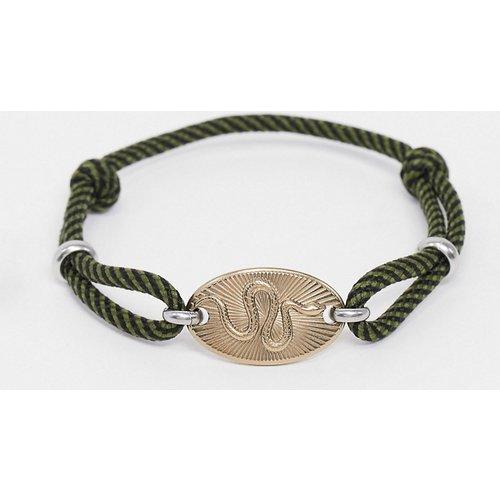 Bracelet avec serpent en acier inoxydable - Doré - Fossil - Modalova