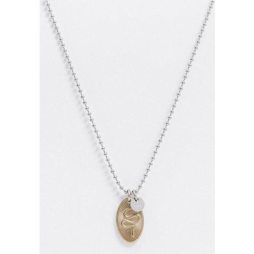 Collier en acier inoxydable avec pendentif motif serpent - Fossil - Modalova