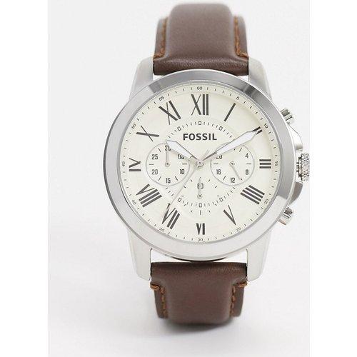 FS4735 Grant - Montre chronographe à bracelet en cuir - Fossil - Modalova