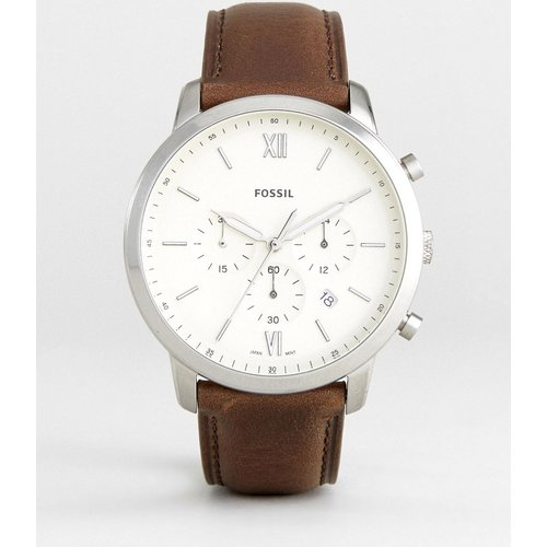 FS5380 Neutra - Montre chronographe à bracelet en cuir - Fossil - Modalova
