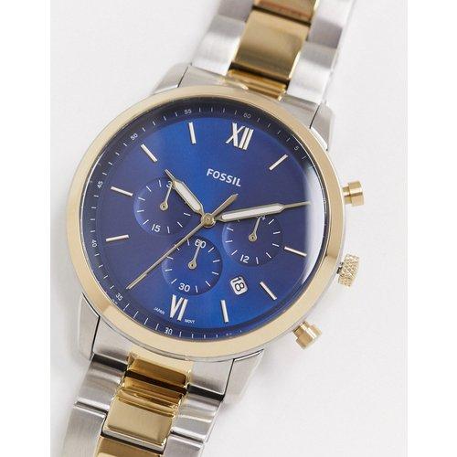 Neutra - Montre chronographe en métaux variés à cadran bleu marine - FS5706 - Fossil - Modalova