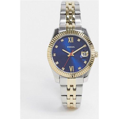 Scarlett - Montre à mini bracelet en métaux variés avec cadran bleu marine - ES4899 - Fossil - Modalova