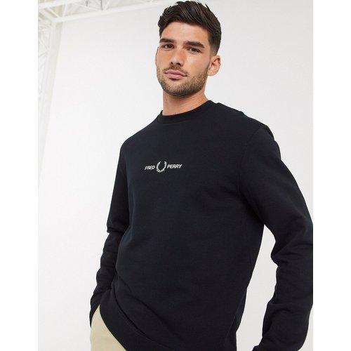 Sweat-shirt ras de cou à logo brodé - Fred Perry - Modalova