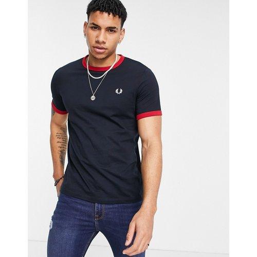 T-shirt à bordures contrastantes avec logo - Bleu - Fred Perry - Modalova