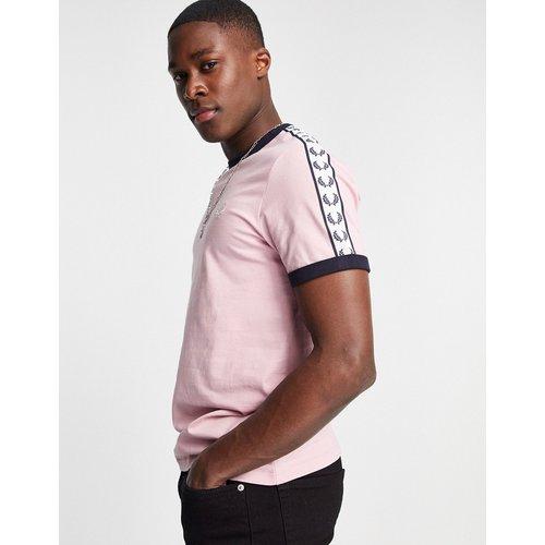 T-shirt à bordures contrastantes et bandes latérales - clair - Fred Perry - Modalova